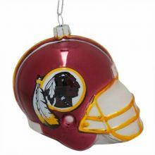 Washington Redskins Blown Glass Team Helmet Ornament