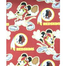 "Washington Redksins 40"" x 50"" Mickey Mouse Fleece Throw Blanket"
