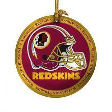 Washington Redskins Ceramic Mini Plate Ornament