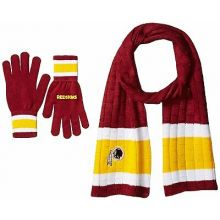 Washington Redskins Cold Weather Knit Scarf and Glove Set