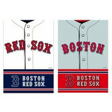 Boston Red Sox 2 Sided Suede Foil Garden Flag