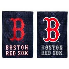 Boston Red Sox 2 Sided Suede Glitter Garden Flag