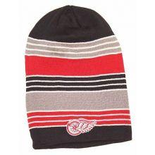 Detroit Red Wings Oversized Reversible Black Striped Beanie