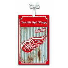 Detroit Red Wings Corrugated Metal Sign Ornament