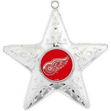 Detroit Red Wings Silver Star Ornament