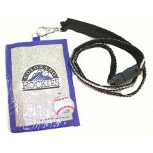 Colorado Rockies Beaded Lanyard I.D. Wallet