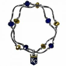 Kansas City Royals Crystal Bead Charm Bracelet