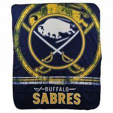 """Buffalo Sabres Fade Away  50"""" x 60"""" Fleece Throw Blanket"""