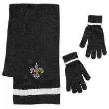New Orleans Saints Chenille Scarf & Glove Set