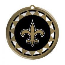 New Orleans Saints Blown Glass Disk Ornament