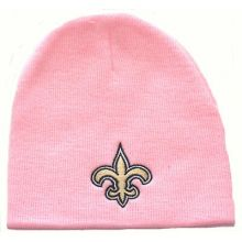 New Orleans Saints Embroidered Logo Cuffless Pink Beanie