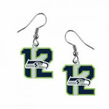 Seattle Seahawks 12th Man Dangle Earrings