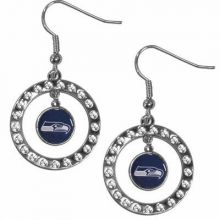 Seattle Seahawks Rhinestone Dangle Earrings