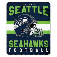 "Seattle Seahawks 50"" x 60"" Singular Fleece Throw Blanket"