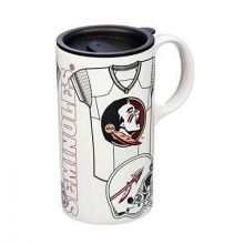 Florida State Seminoles Personalizable Ceramic Travel Mug, 20 ounces, with Team