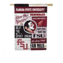 Florida State Seminoles Vertical Linen Fan Rules House Flag