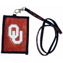 Oklahoma Sooners Beaded Lanyard I.D. Wallet