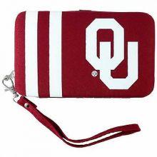 Oklahoma Sooners Distressed Wallet Wristlet