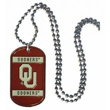 Oklahoma Sooners Dog Tag necklace