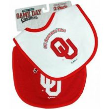 Oklahoma Sooners 2 Pack Game Day Bib Set