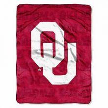 Oklahoma Sooners Micro Raschel Grunge Blanket