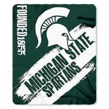 Michigan State Spartans Established Painted Fleece Throw