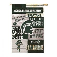 Michigan State Spartans Vertical Linen Fan Rules House Flag