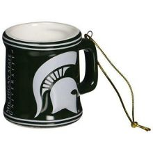 Michigan State Spartans Ceramic Mini Mug Ornament