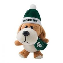 Michigan State Spartans 4 inch Plush Dog Ornament