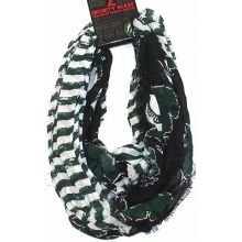 Michigan State Spartans Striped 2 Tone Infinity Scarf
