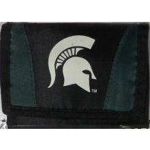 Michigan State Spartans Tri-Fold Nylon Chamber Wallet