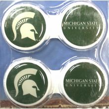 Michigan State Spartans Contact Lens Case 2 Pack