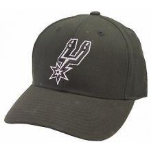 San Antonio Spurs Black Slouch Adjustable Hat