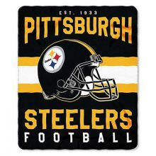 "Pitsburgh Steelers 50"" x 60"" Singular Fleece Throw Blanket"