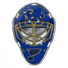 """St. Louis Blues 3"""" Color Face Mask Automotive Emblem"""