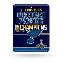NHL St. Louis Blues 2019 Stanley Cup Champions 8-Inch by 11-Inch Metal Parking S