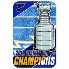 "St. Louis Blues 2019 Stanley Cup Champions Plastic Wall Sign (11""x17"")"