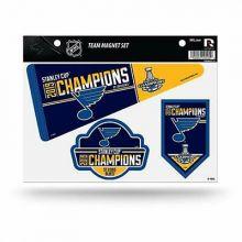 St. Louis Blues 2019 Stanley Cup Champions Team Magnet Sheet (3 PK)