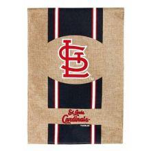 """St. Louis Cardinals 28"""" x 43"""" Burlap House Flag"""