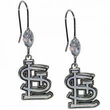 St. Louis Cardinals Crystal Dangle Earrings