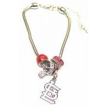 St. Louis Cardinals Euro Bead Bracelet