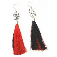 St. Louis Cardinals Tassel Dangle Earrings