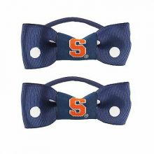 Syracuse Orange Bow Pigtail Holders