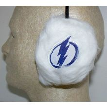 Tampa Bay Lightning Embroidered Faux Fur Team Logo Earmuffs Cheermuffs