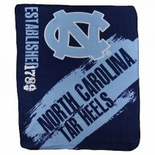 North Carolina Tar Heels Established Fleece Throw Blanket