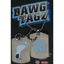 NCAA North Carolina Tar Heels Stainless Steel Dawg Tagz