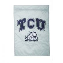 """TCU Horned Frogs  12.5"""" x 18"""" Two Sided Applique Garden Flag"""