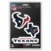Houston Texans 3 Pack Die Cut Decals