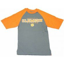 """NCAA Officially Licensed Clemson Tigers Gray/Orange """"Property Of"""" T-Shirt (Extra"""