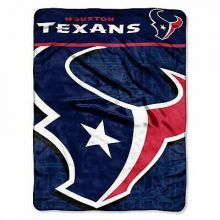 "Houston Texans Living Large 46"" x 60"" Super Plush Throw"